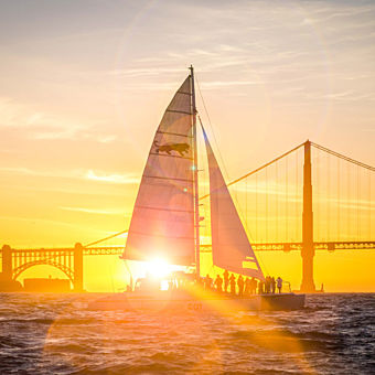 Romantic Sunset Catamaran Cruise in San Francisco