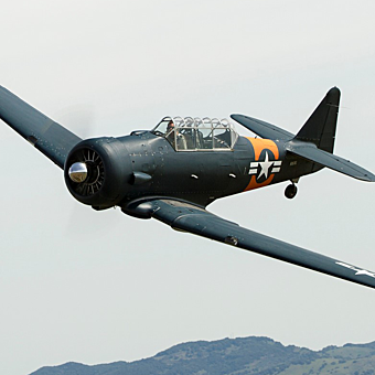 T6 Warbird Ride near San Francisco