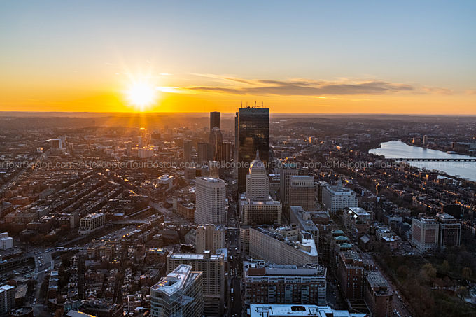 Sunset Helicopter Tour Boston