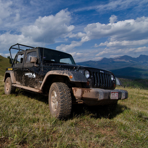 Jeep tour in the Rocky Mountains