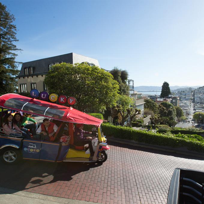 San Francisco City Tour down Lombard Street