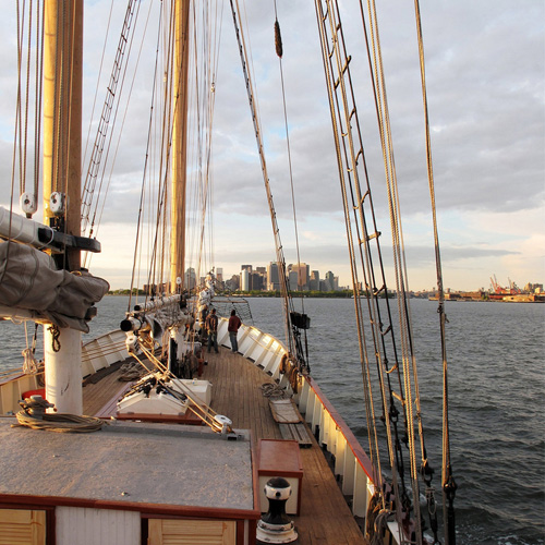 View of Manhattan on the Tall Ship Sail