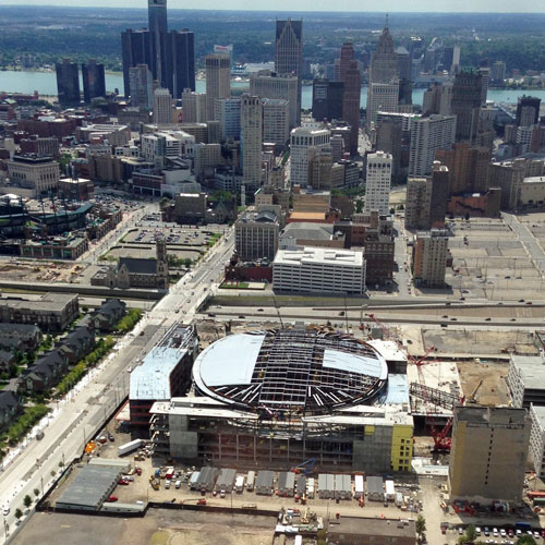 Fly over Detroit in a Helicopter