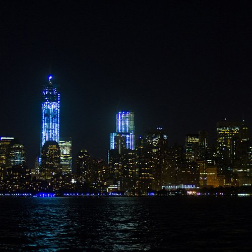 NYC skyline from the City Lights Sail