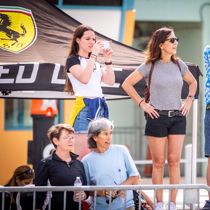 Spectators during Racing Experience at Homestead-Miami Speedway