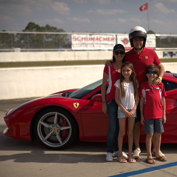 Family Visit to the Race Track at Homestead-Miami Speedway