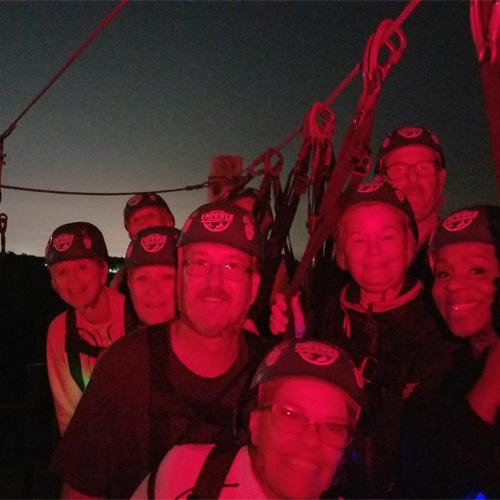 Moonlight Zip Tour near Tampa