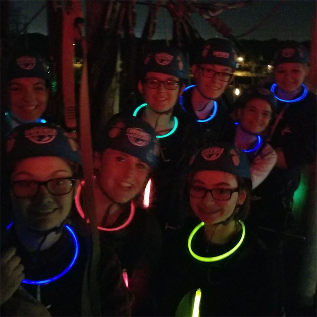 Group Picture during Moonlight Zip Tour