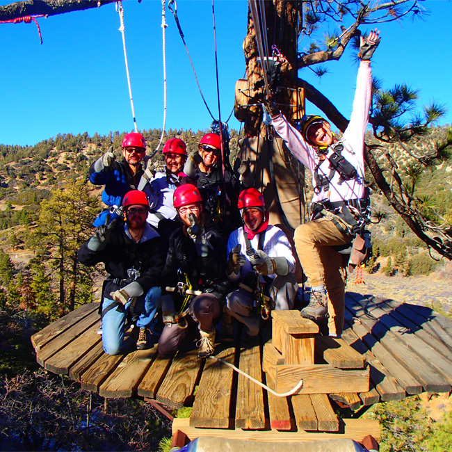 Group during Zipline Tour Near Los Angeles