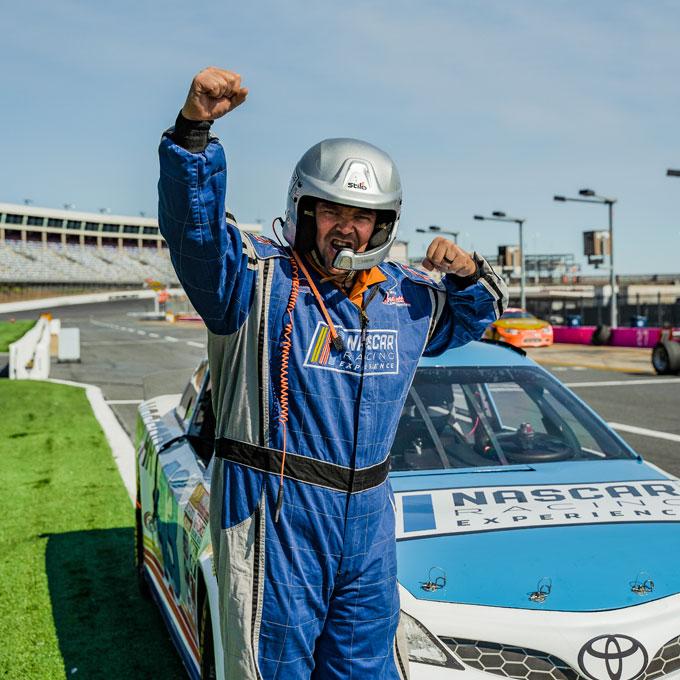NASCAR driver experience