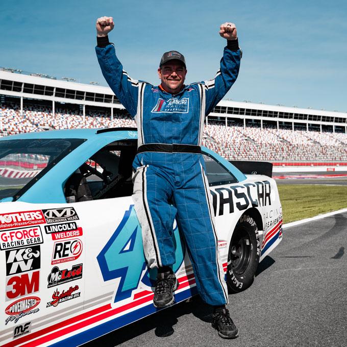 Ride along in a NASCAR on Richmond International Raceway