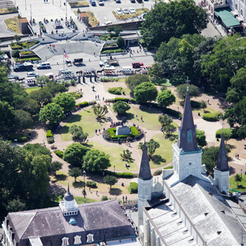 Helicopter Tour view of French Quarter