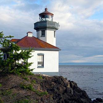 Limekiln Lighthouse seen on San Juan Kayak Tour
