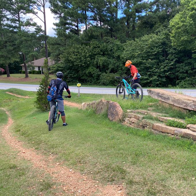 Mountain Bike Skills Lesson in Arkansas