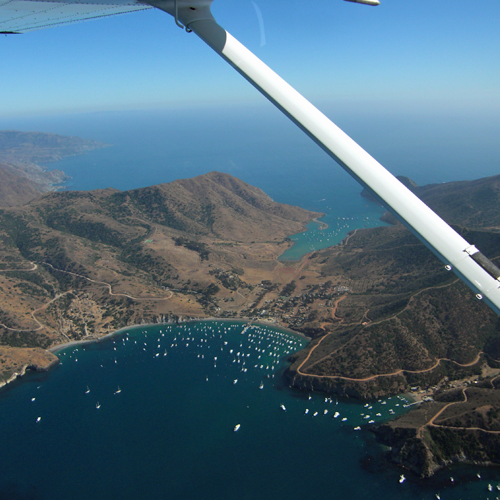 Hands on Flight over the Harbor