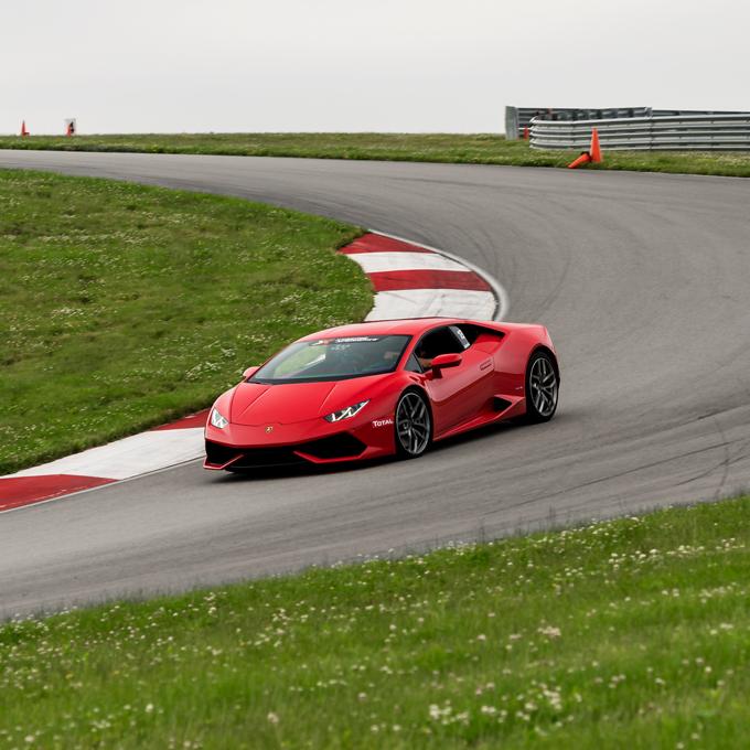 Race a Lamborghini Huracan near Houston