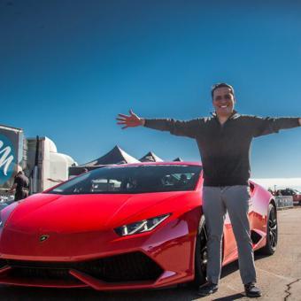 Racing a Lamborghini near Boston