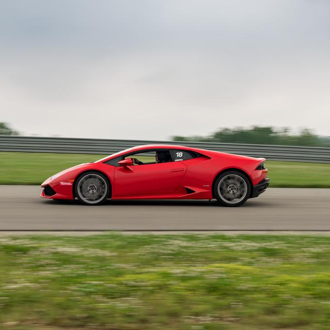 Race a Lamborghini at Auto Club Speedway