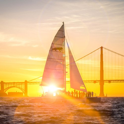 Romantic Sunset Catamaran Cruise in San Francisco