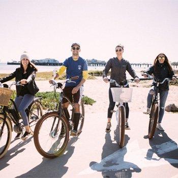 Electric Bikes on the Beach of Santa Barbara