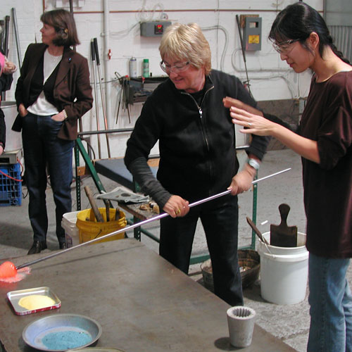 New York Glass Blowing Lesson