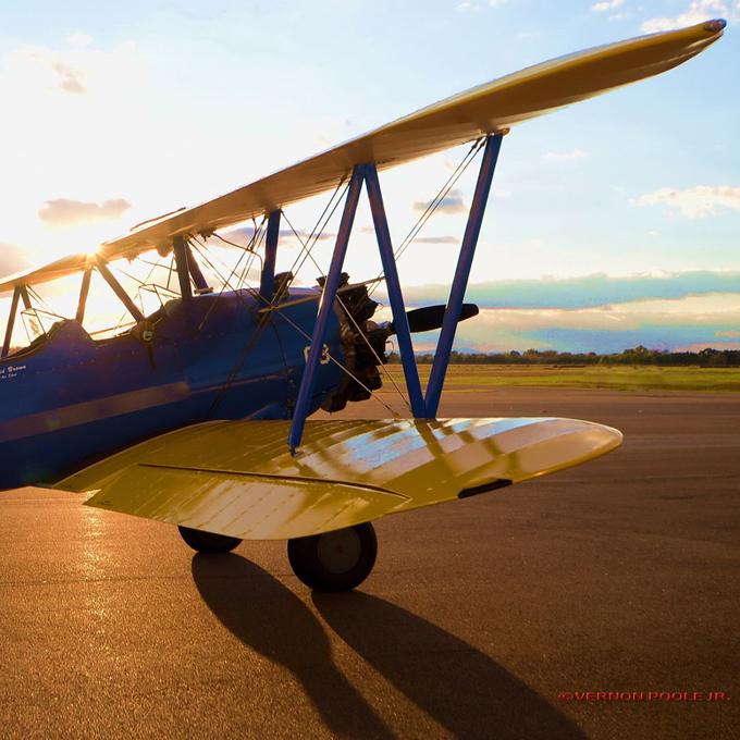 Scenic Biplane Ride Sunset in Virginia