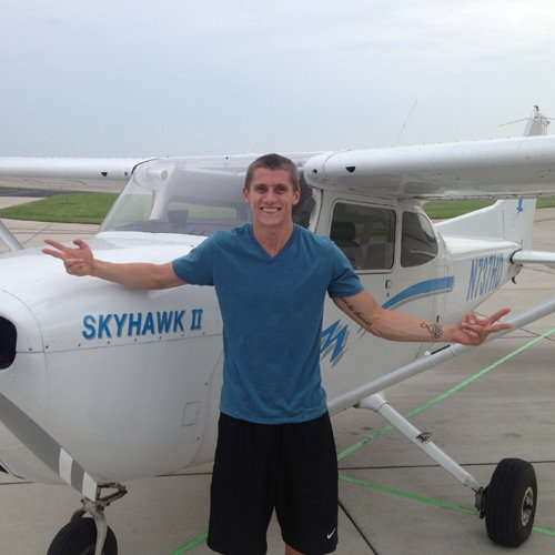 Happy Student after a flight lesson