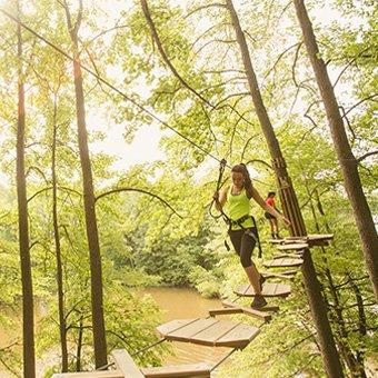 Treetop Adventure in Oak Point Park