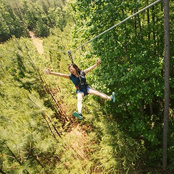 Zip Line Adventure Course In Pittsburgh At Virgin Experience Gifts