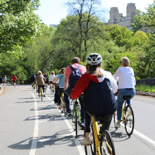 Biking in Central Park