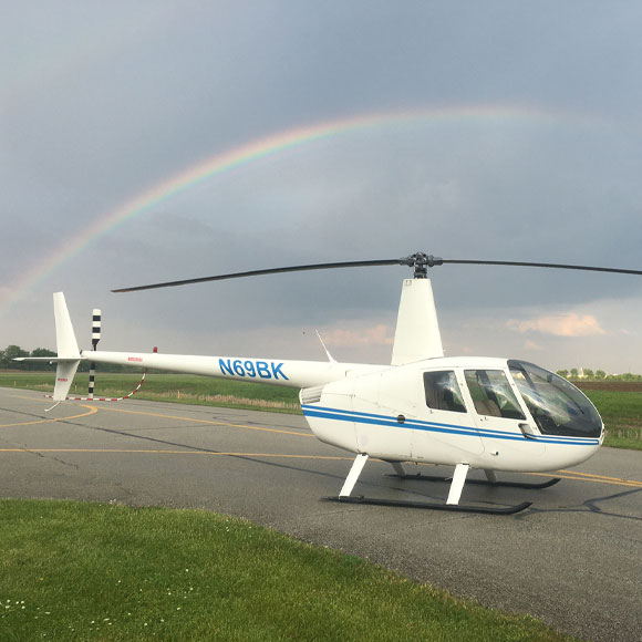 Introductory Flight Lesson in R-44 Helicopter near Indianapolis