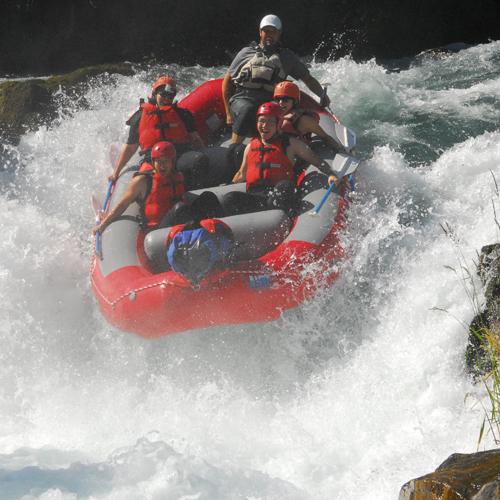 Raft Husum Falls on the White Salmon