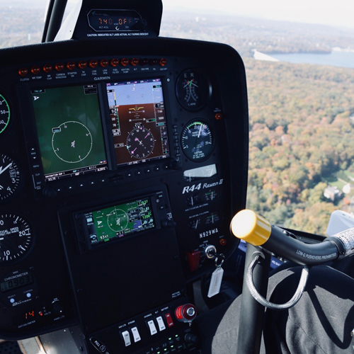 Controls of R44 Helicopter