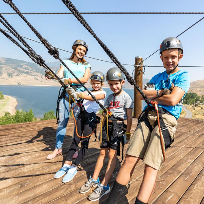 Family Zipline Tour in Utah